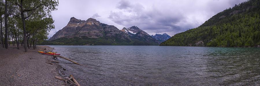Waterton Lake Photograph - Upper Waterton Lake by Chad Dutson