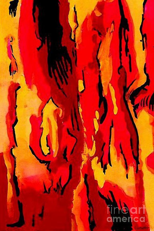 Gouache Digital Art - Uprising 1 by Brian Gilbert