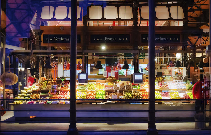 Madrid Photograph - Upscale Mercado by Joan Carroll