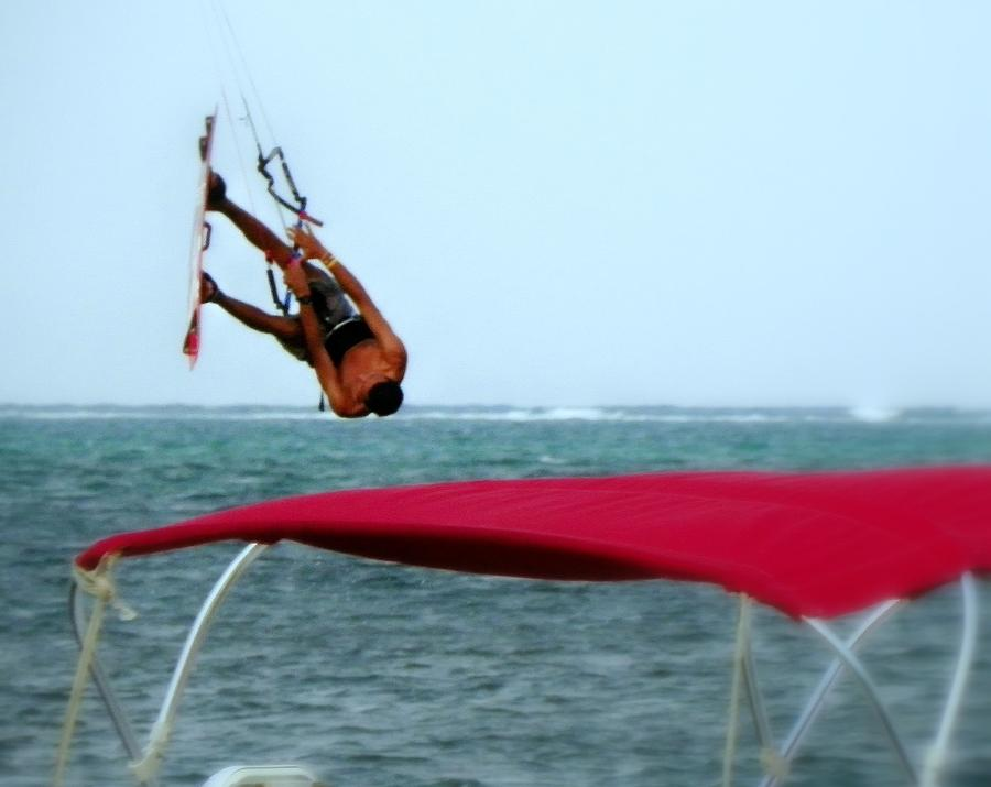 Wind Surfing Photograph - Upside Down World  by Karen Wiles