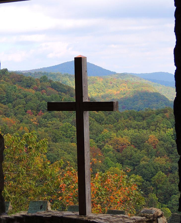 Cross Photograph - Upward by Judy  Waller