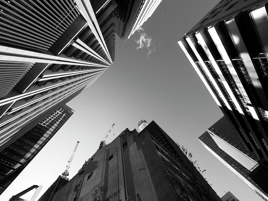 Upward View Of Otemachi Office Buildings Photograph by Huzu1959
