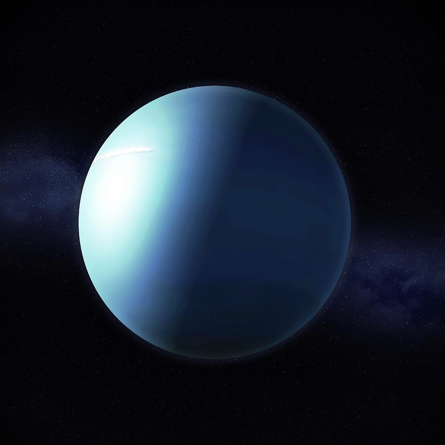 Uranus, Artwork Digital Art by Science Photo Library - Andrzej Wojcicki