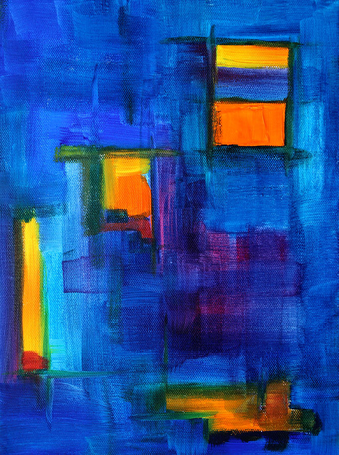 Urban Architecture Abstract Painting By Nancy Merkle