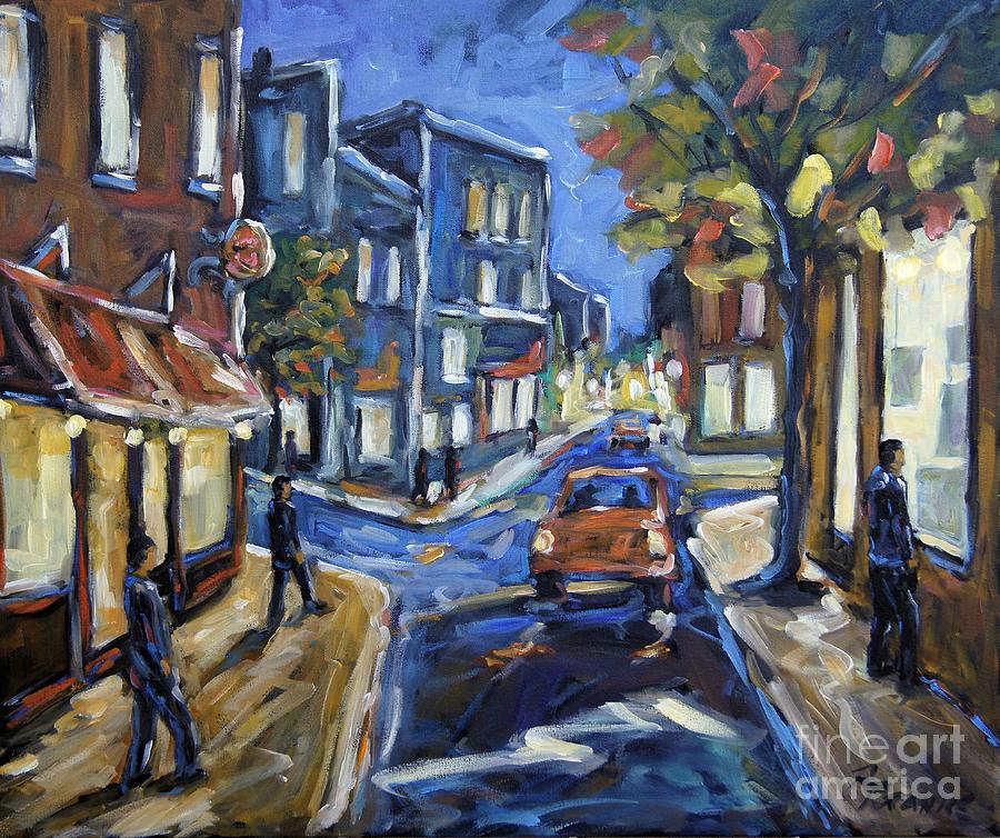 Canada Painting - Urban Avenue By Prankearts by Richard T Pranke