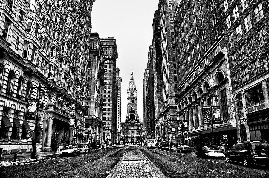 City Photograph - Urban Canyon - Philadelphia City Hall by Bill Cannon