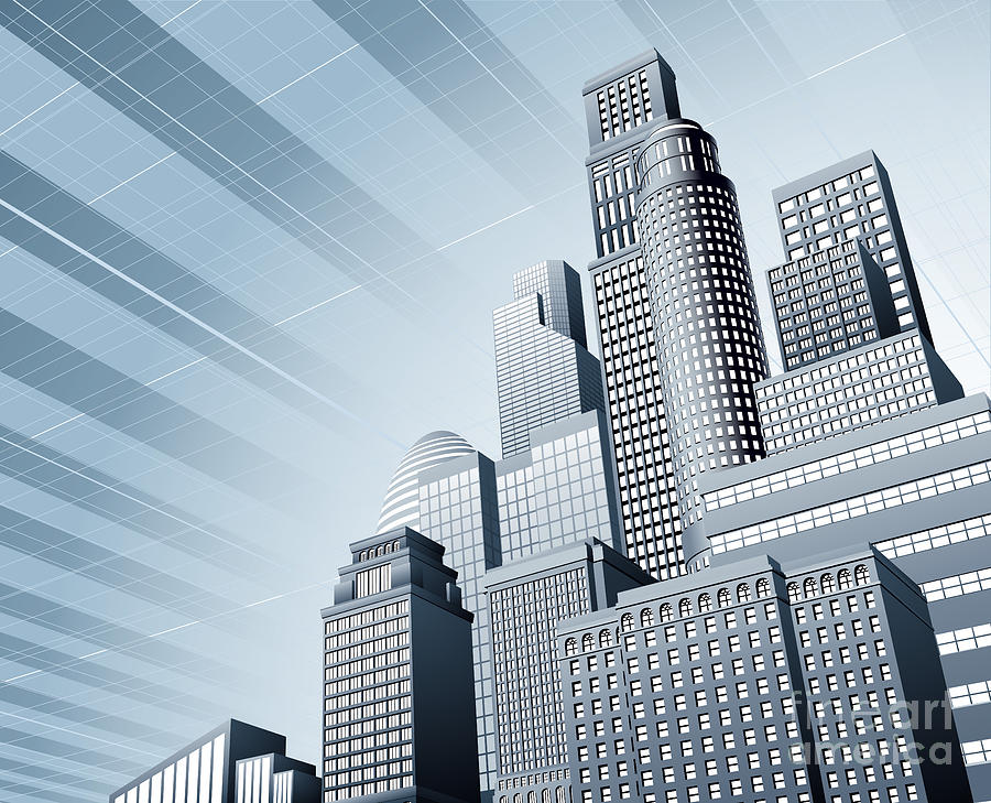 Urban City Business Background Photograph By Christos