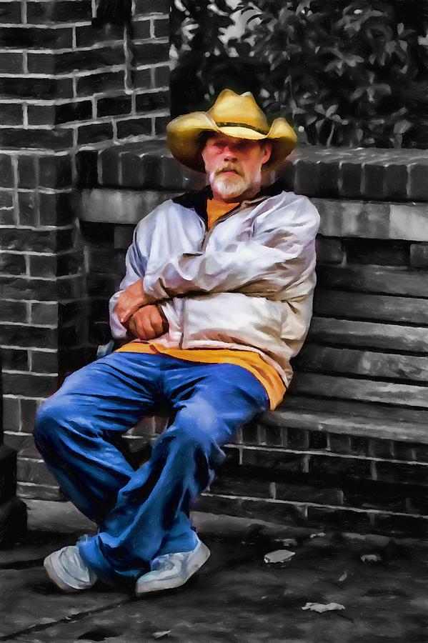 Appalachia Mixed Media - Urban Cowboy by John Haldane