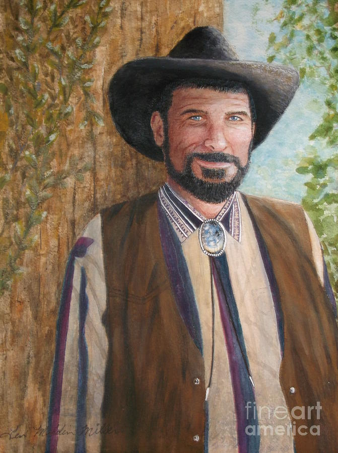 Cowboy Painting - Urban Cowboy  by Terri Maddin-Miller