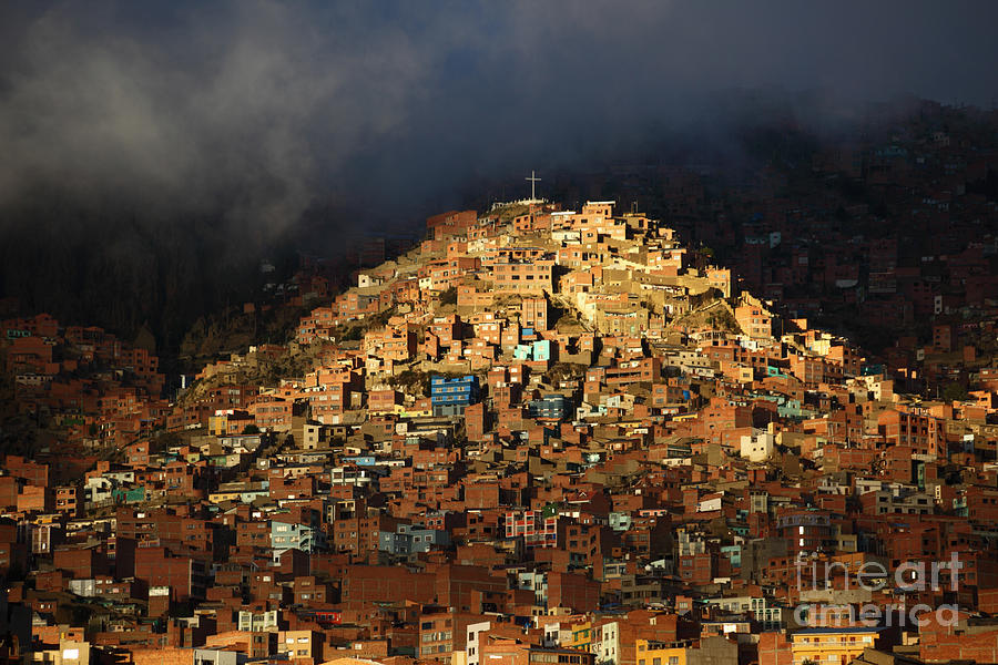La Paz Photograph - Urban Cross 2 by James Brunker