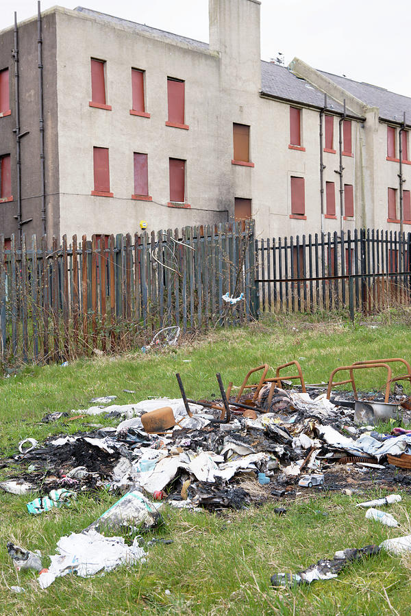 Rubbish Photograph - Urban Decay by Gustoimages/science Photo Library
