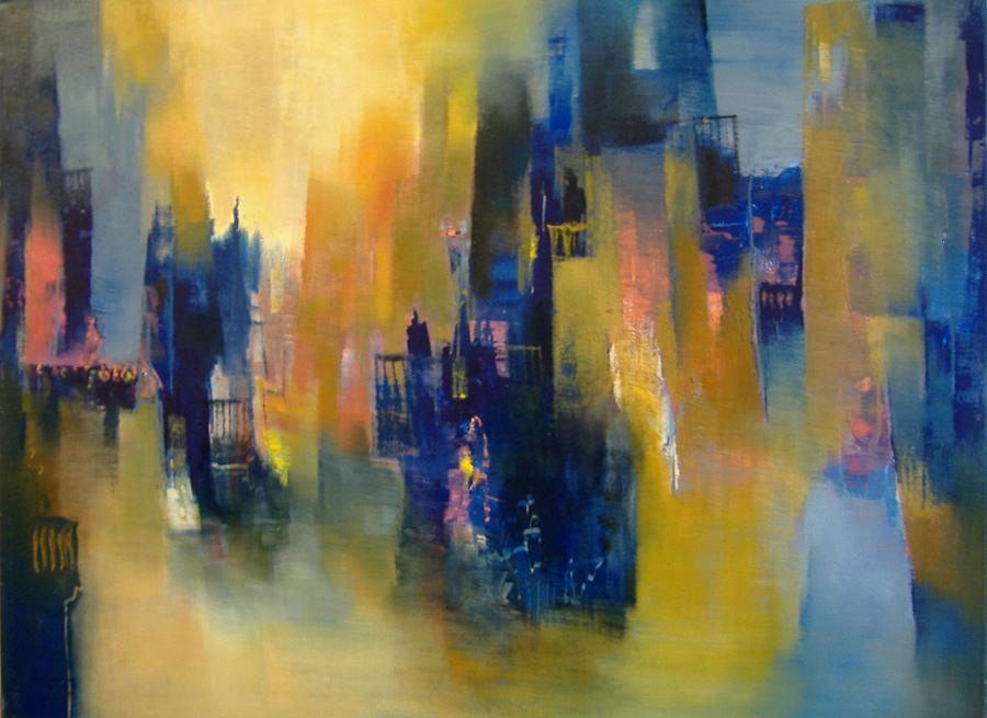 Landscape Painting - Urban Echoes by Alicia Valdivia