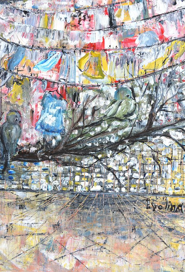 Birds Painting - Urban by Evelina Popilian