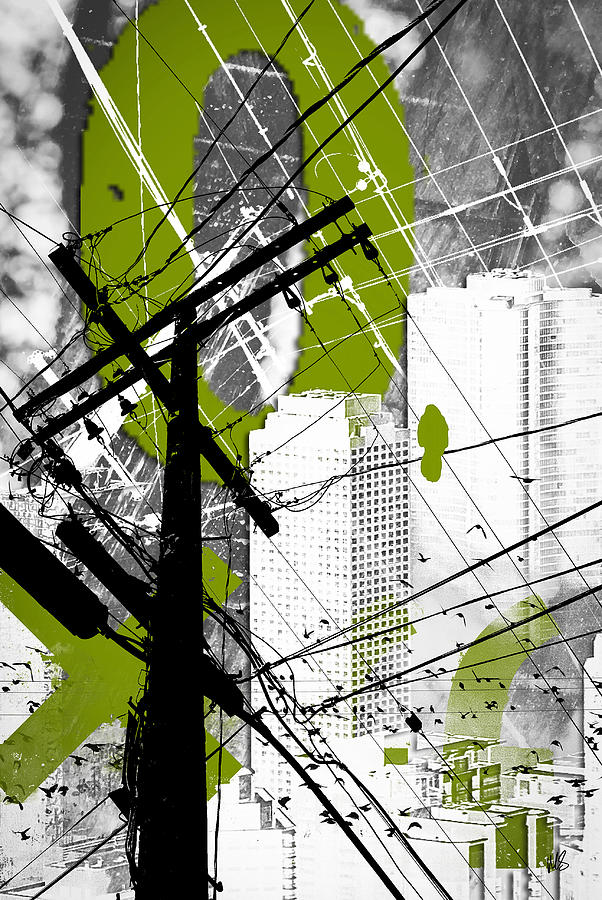 Urban Grunge Green Digital Art