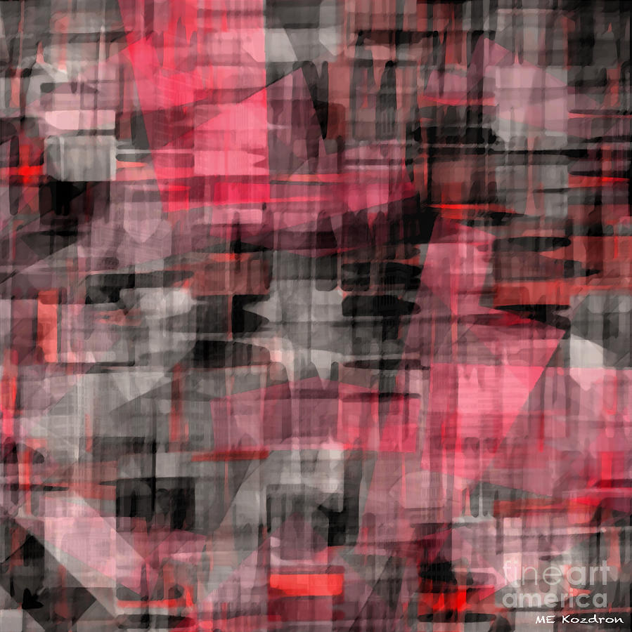 Abstract Digital Art - Urban Layers by ME Kozdron
