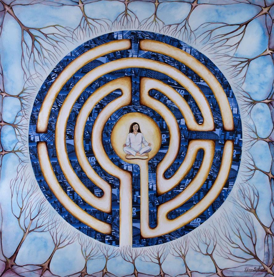 Mystic Painting - Urban Mystic by Rebecca Barham