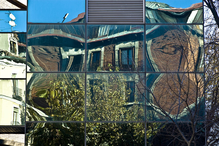 Urban Reflections Photograph - Urban Reflections Madrid by Frank Tschakert