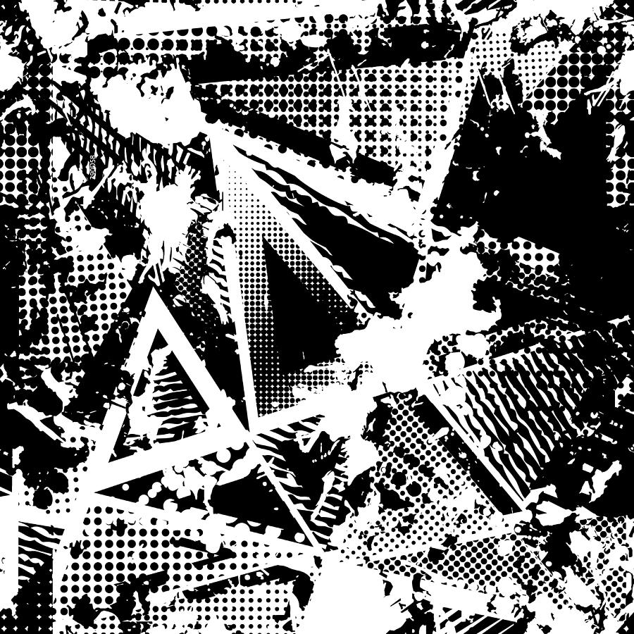 Urban Seamless Grunge Texture Background  Black White Spray Paint Splash   by Gorbachlena