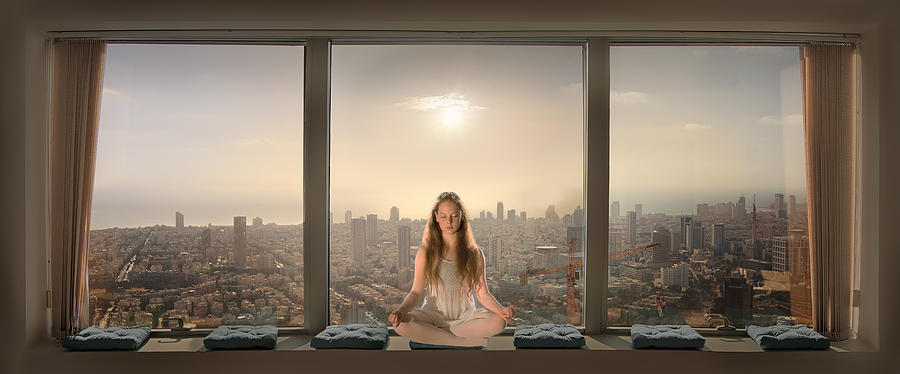 Meditation Photograph - Urban Serenity by Nadav Jonas
