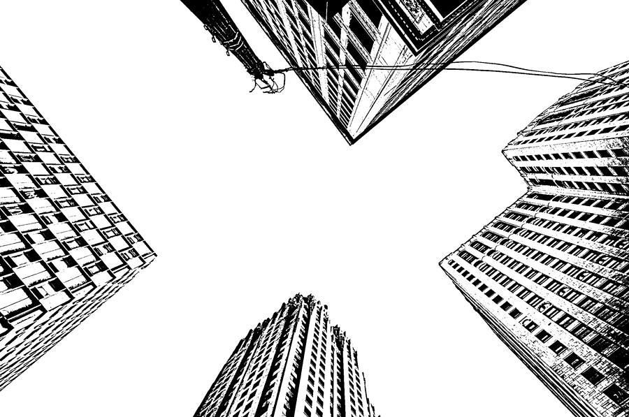 Building Photography urban skyscraper building photography print detroit michigan