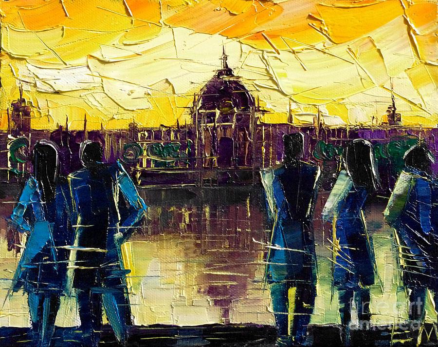 Mona Edulescu Painting - Urban Story - Hotel-dieu De Lyon by Mona Edulesco
