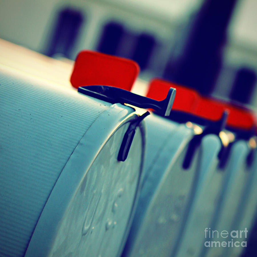 Mailboxes Photograph - Urgent by Trish Mistric