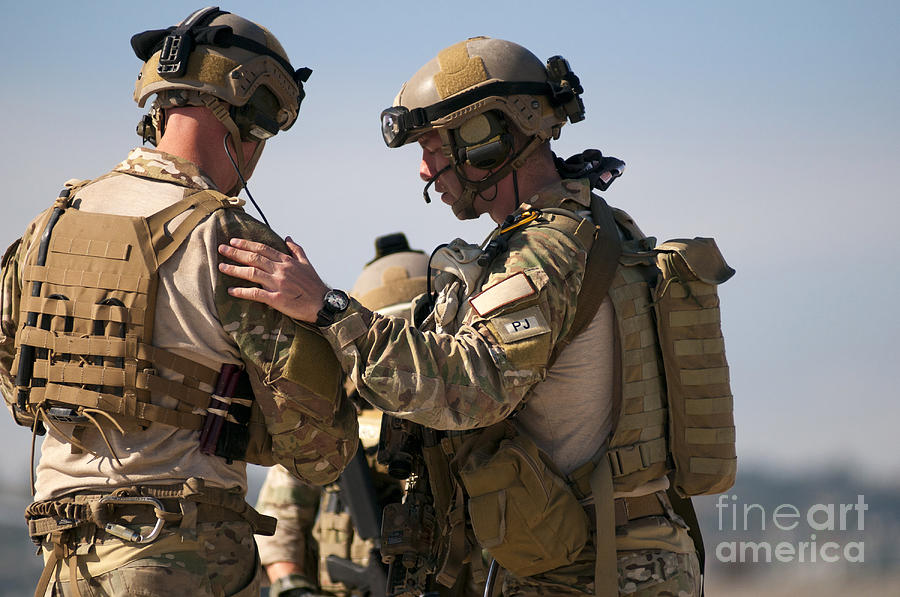 Horizontal Photograph - U.s. Air Force Pararescue Jumpers by Stocktrek Images