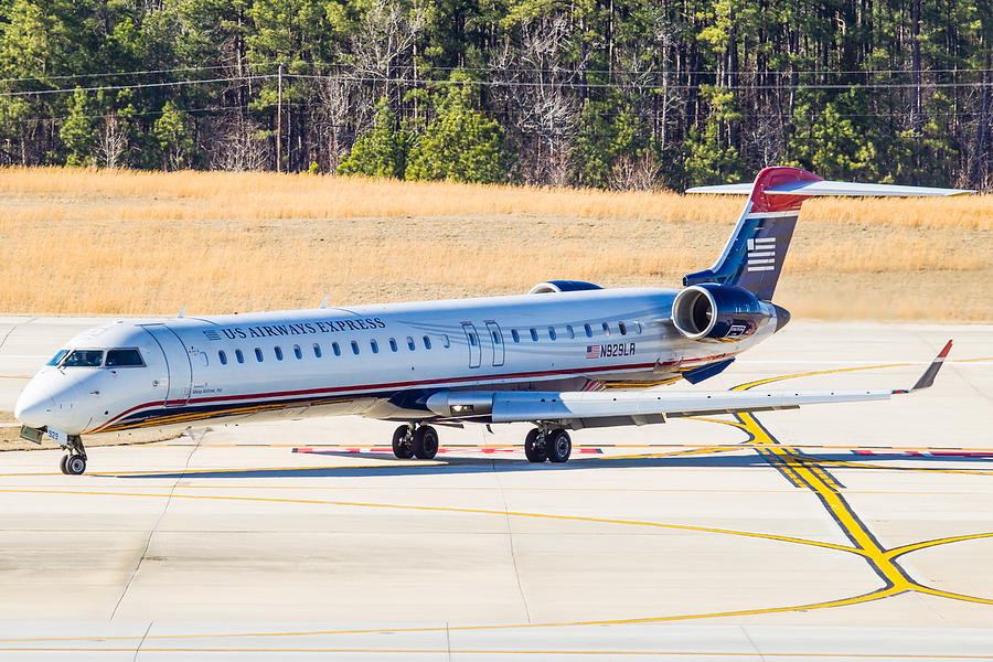 US Airways Express CRJ-900 Photograph by Richard Jack-James