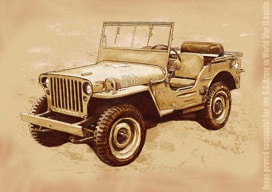 Jeep Art | Fine Art America