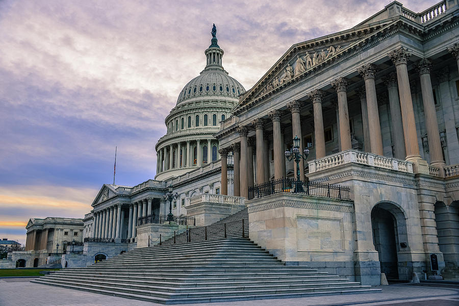 Us Capitol Building And Senate Chamber Photograph by Mbell