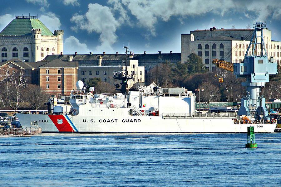 Ship Photograph - Us Coast Guard by Barbara S Nickerson