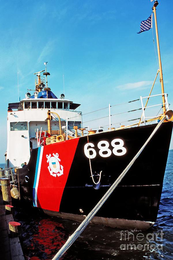 Us Coast Guard Photograph - Us Coast Guard Ship by Thomas R Fletcher
