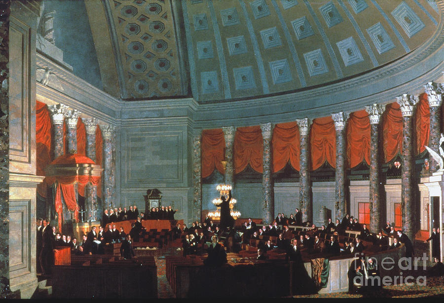 1822 Painting - U.s. Congress - House by Granger
