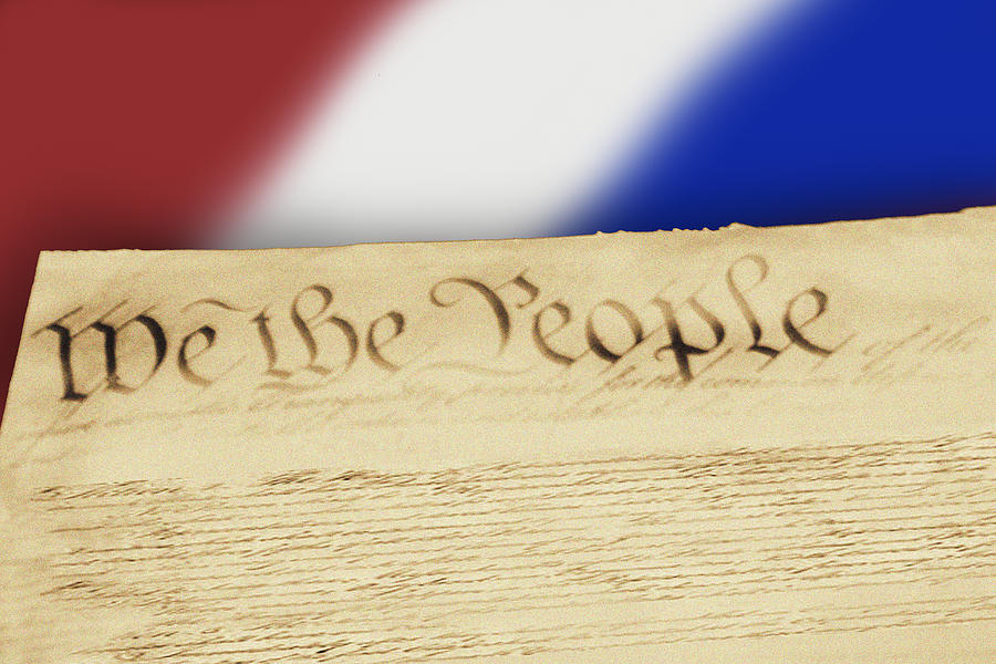 Words Photograph - Us Constitution by Linda Phelps