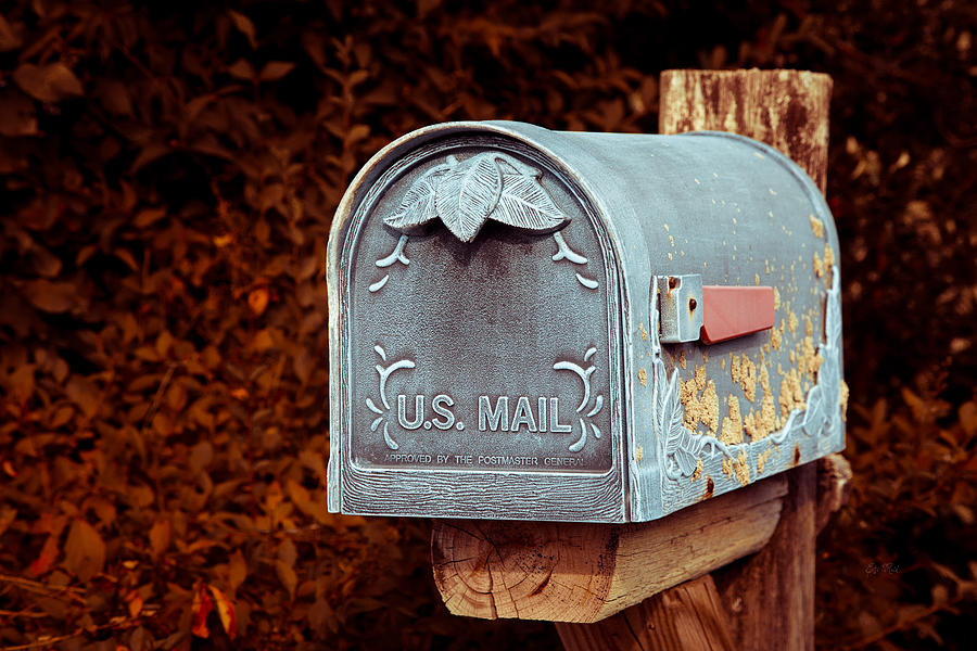 Postbox Photograph - U.s. Mail Approved by Eti Reid