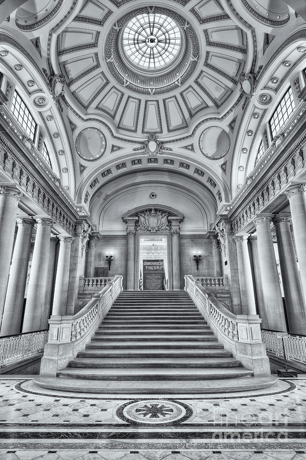 America Photograph - Us Naval Academy Bancroft Hall II by Clarence Holmes