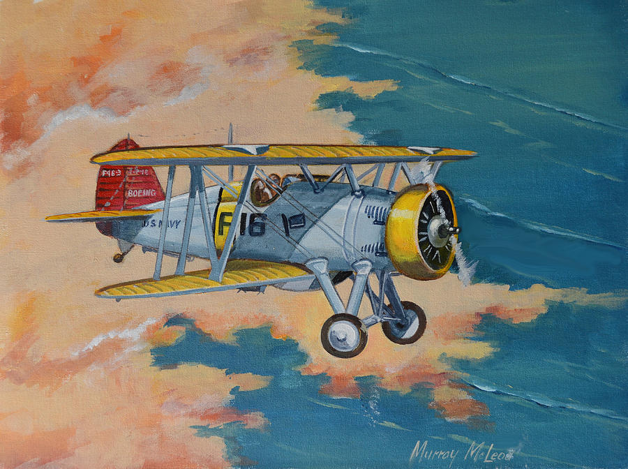 Us Navy Painting - Us Navy Boeing F4b by Murray McLeod