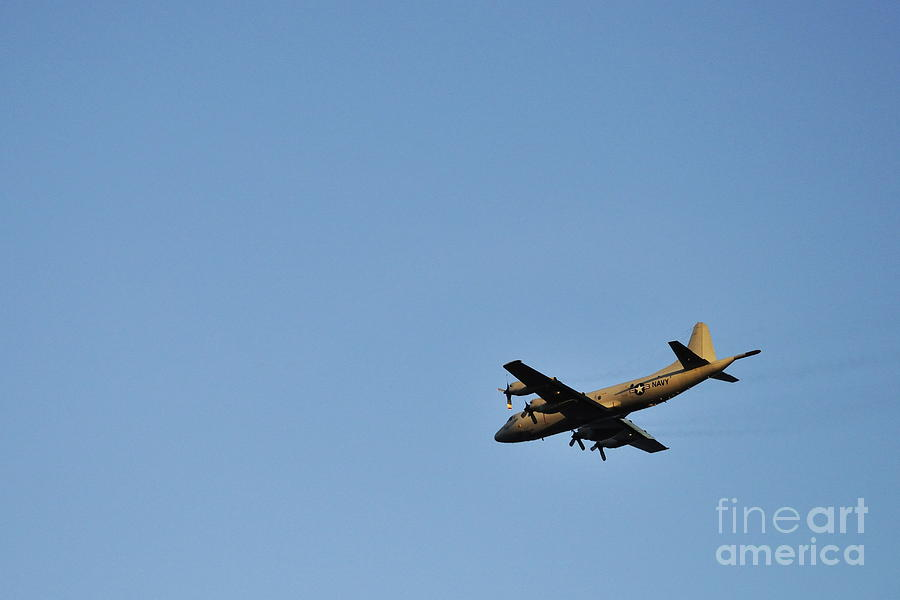 Aeroplane Photograph - Us Navy Military Airplane by Sami Sarkis