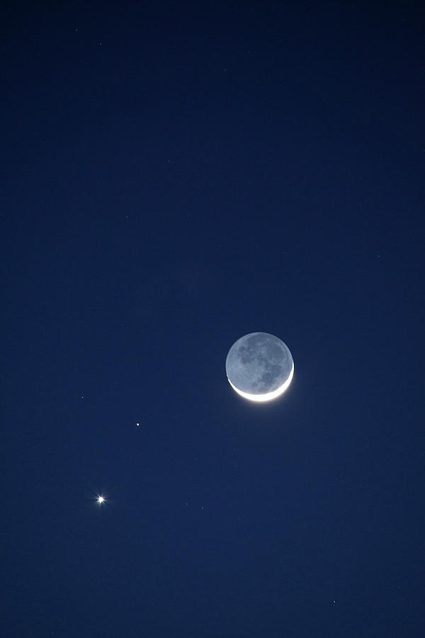 Astronomy Photograph - Usa, California Moon, Venus And Pluto by Jaynes Gallery