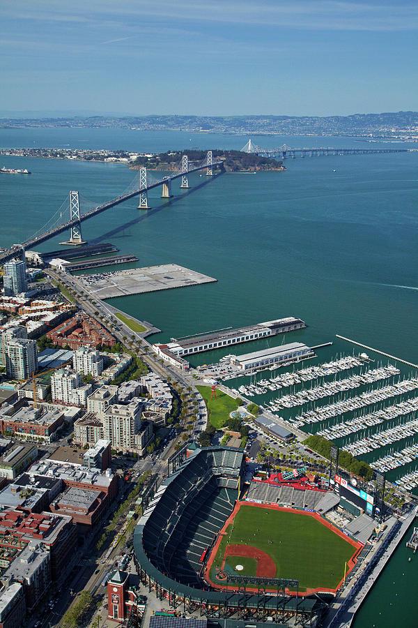Aerial View Photograph - Usa, California, San Francisco by David Wall