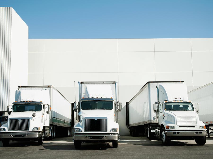 Usa, California, Santa Ana, Trucks And Photograph by Tetra Images - Erik Isakson
