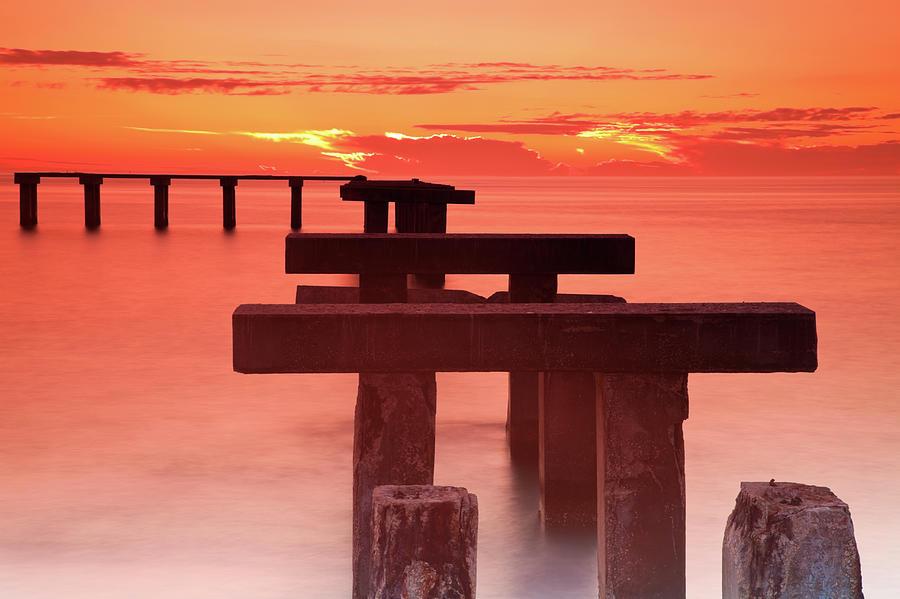 Usa, Florida, Boca Grande, Ruined Pier Photograph by Henryk Sadura