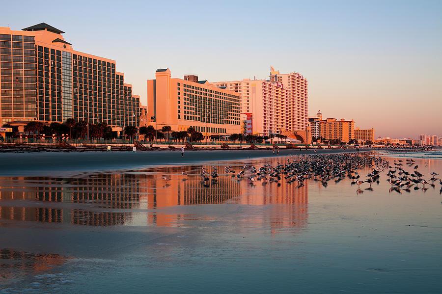 Usa, Florida, Daytona Beach, Waterfront Photograph by Henryk Sadura