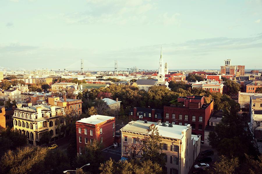 Usa,  Georgia, Savannah, Cityscape Photograph by Henryk Sadura