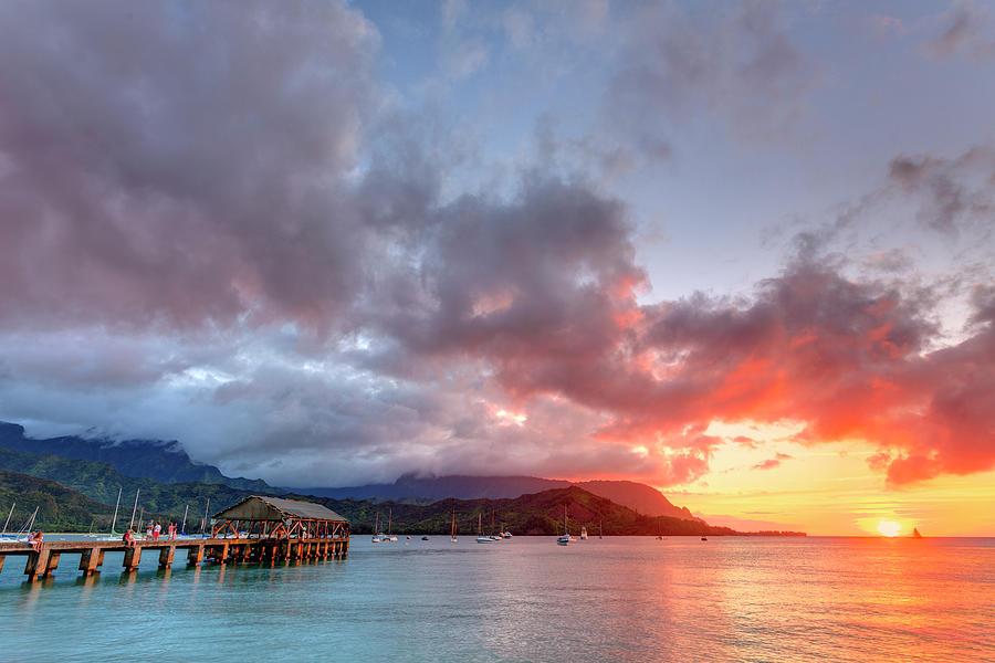 Usa, Hawaii, Kauai, Hanalei Bay Photograph by Michele Falzone