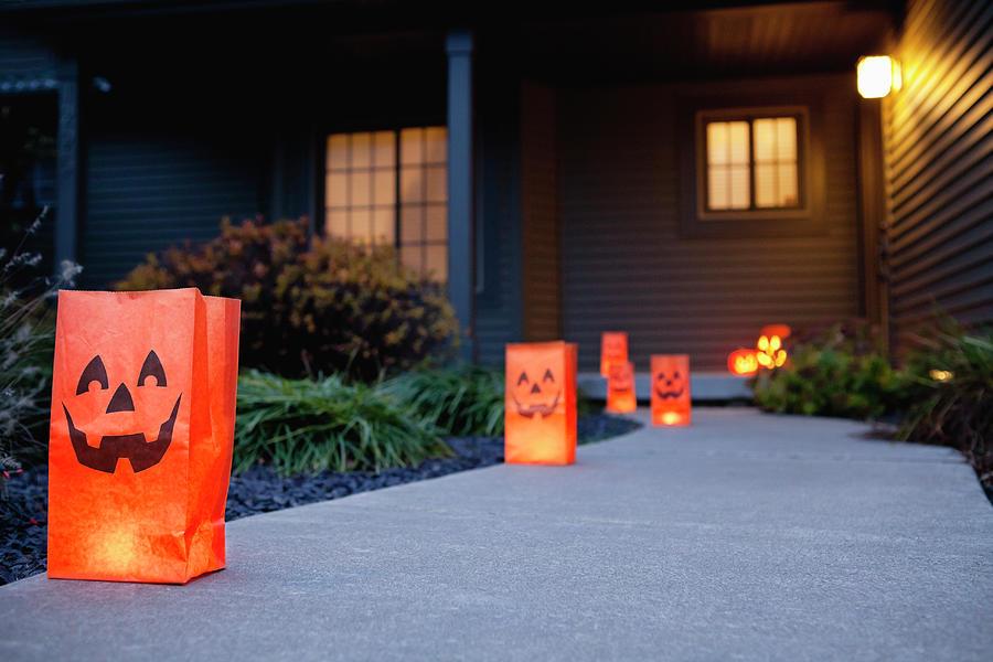 Usa, Illinois, Metamora, Halloween Bags Photograph by Vstock Llc