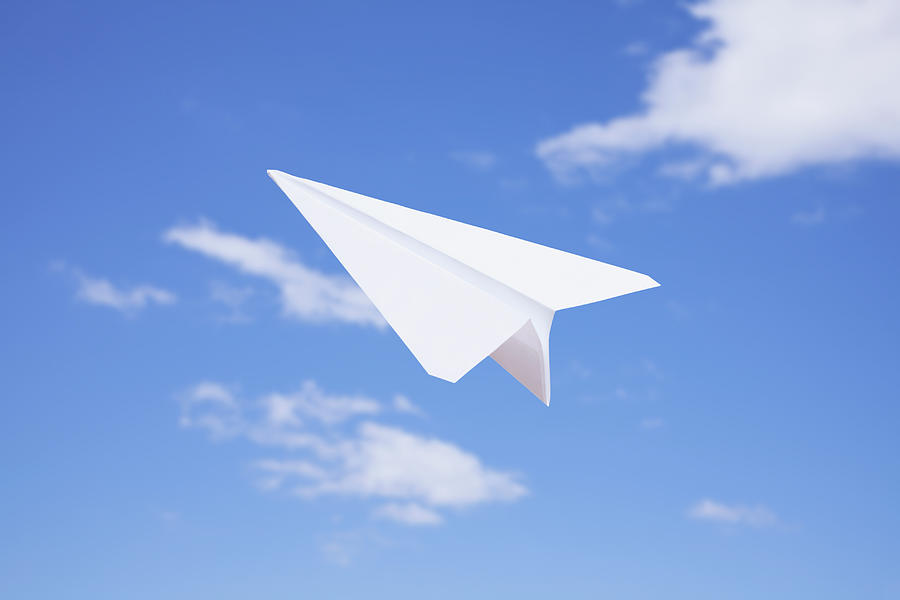 Usa, Illinois, Metamora, Paper Airplane Photograph by Vstock Llc
