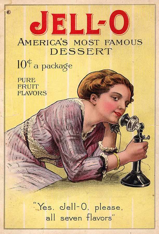 Usa Photograph - Usa Jell-o Magazine Advert by The Advertising Archives
