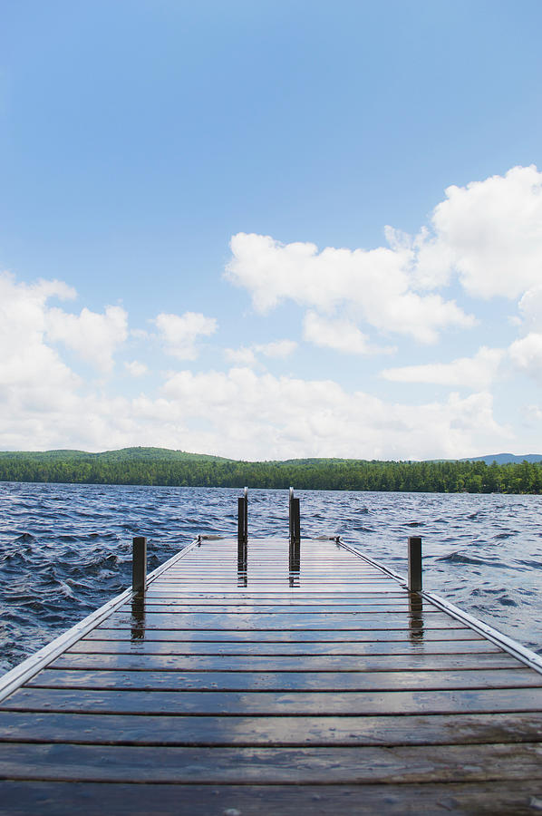 Usa, Maine, Camden, View Of Lake With Photograph by Daniel Grill
