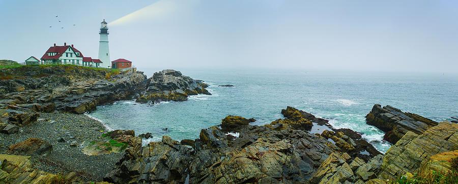 Usa, Maine, Portland, Remote Coastline Photograph by Tetra Images